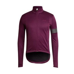 rapha men s cycling jersey NZ - RAPHA team Cycling long Sleeves jersey men long sleeve shirt bicycle clothing in autumn Wear Comfortable Breathable 60924