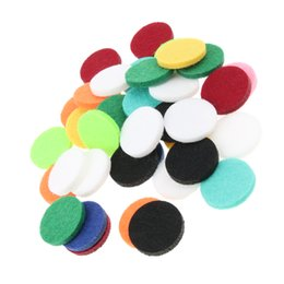Necklaces Pendants Australia - Pack of 48 Multi-color Aroma Replacement Refill Pads for Essential Oil Diffuser Necklace Pendant Locket
