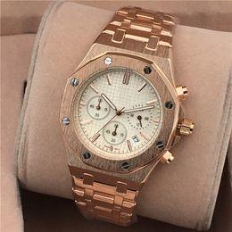 $enCountryForm.capitalKeyWord Australia - Hot Luxury Men Brand Watch Chronograph Watches Stainless Steel Strap Fashion Business 42m Dial Life Waterproof Quartz Movement Watch
