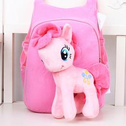 $enCountryForm.capitalKeyWord UK - 2019 Anime Backpack Cartoon Lovely Little Horse Kindergarten School Bags 3d Poni Unicorn Doll Plush Backpack Toys For Children Gift