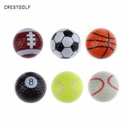 $enCountryForm.capitalKeyWord NZ - CRESTGOLF 6pcs Per Pack Novelty Sports Practice Golf balls ballen Two Layer Golf pelotas Assorted Ball Driving Range Ball