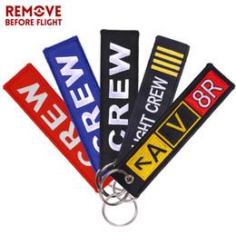 $enCountryForm.capitalKeyWord NZ - Keychain for Company Promotion Gifts Fashion Keychains llaveros Luggage Tag Embroidery Crew Key Chain Fashion Crew Keyring Chain