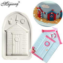 Fondant Cakes Cupcakes Australia - 3D House Wedding Silicone Mold Beach Hut Cake Border Fondant Cake Decorating Tools DIY Cupcake Candy Chocolate Gumpaste Mould