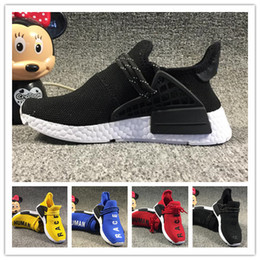 $enCountryForm.capitalKeyWord NZ - Hot Human Race kids Running Shoes Pharrell Williams Sample Yellow Core Black children running shoes baby birthday gift 9C-3Y