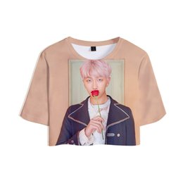Green Maps UK - wholesale 2019 New Album Kpop wholesale MAP OF THE SOUL:PERSONA 3D Tops Crops Girl t-shirt Short T shirt Women Sexy Clothes Sale