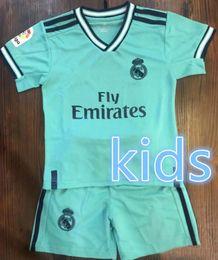 Camiseta de fútbol infantil Real Madrid 2019 PELIGRO Conjunto infantil MADRID NAVAS BENZEMA ISCO BALE SERGIO RAMOS MORATA ASENSIO uniforme para niños niñas en venta