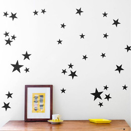 $enCountryForm.capitalKeyWord Australia - New 110 pcs set Cartoon Stars Wall Sticker For Kids Rooms Home Decor Little Star Wall Decals Baby Nursery DIY Art Mural Poster