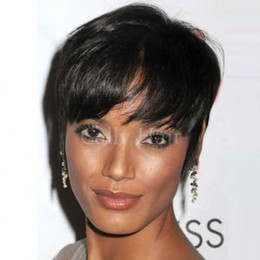 $enCountryForm.capitalKeyWord Australia - Burmese Hair Short Pixie Cut Wigs for Black Women Human hair Wig for Women Small Curly African American Cheap Human Hair Cute Wig