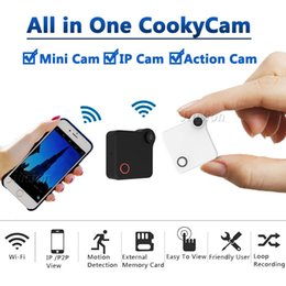 P2p Cameras Australia - C1 WiFi P2P Mini Camera Webcam IP Camcorder with Motion Sensor DV DVR Magnetic Clip HD 720P Video Audio Recorder H.264 Micro Cam