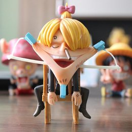 one piece toys 15cm NZ - 15cm One Piece Roronoa Zoro Luffy Vinsmoke Sanji Funny Action figure toys doll Christmas gift with box