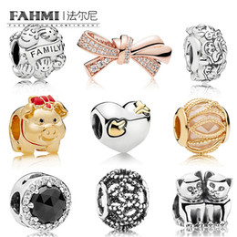 $enCountryForm.capitalKeyWord NZ - FAHMI 100% 925 Sterling Silver 1:1 SHINE PIGGY Kittens FAMILY Beaded Rose Brilliant Bow Charm Heart And Arrow Love Struck Charm