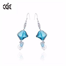 cloisonne earrings UK - Wedding Party Tin Alloy beaded pearl gift woman lady diamond jewelry earring for bride acting initiation graduation CDE-849