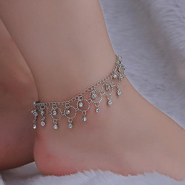 dancing anklets feet Australia - New Jewelry Fashion Beach Dance Anklet Hot Sale Rhinestone Tassel Foot Ring Wholesale