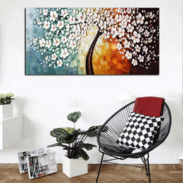 Canvas Prints Art Sale Australia - Unframed Canvas Prints Oil Painting Rich Tree Decorative Art for Living Room Wall Decor Palette Knife Painting HD Quality Hot Sale