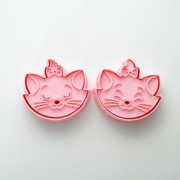 Cat Cutters Australia - Pair of 3D Biscuit Mold Cat Cookie Cutters Cookie Stamps Mold Tray Cake Baking Mold Decorating Tools Pastry Tools Bakeware Non-toxic