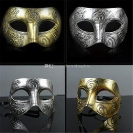 Celebrity Masquerade Ball UK - (1000 pieces lot) New retro plastic Roman knight mask Men and women's masquerade ball masks Party favors Dress up a192-a196
