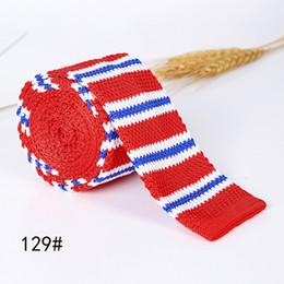 $enCountryForm.capitalKeyWord Canada - Unique Knitted Narrow Ties Neck Tie Men's Black White (as pic show) Necktie width:5cm Stripes A32
