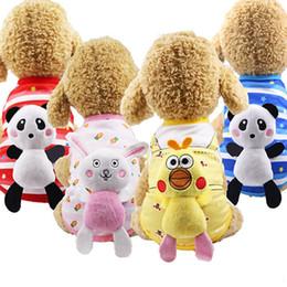 T Shirt Dolls Australia - New Dog Vest Cat Cotton Puppy T-shirt Doll Can Unload Pet Cat Supplies Jacket Knit Cute Princess Puppy Costume