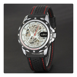 $enCountryForm.capitalKeyWord NZ - High Quality Luxury Sport Watches For Men Skeleton Wrist Watches Automatic Winding Mechanical Movement Black Dial