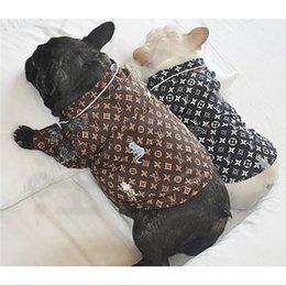Wholesale Luxury L Letter Pets Shirts Dog Pup Kitty Schnauzer Teddy Bulldog Bichons Frises Spring And Summer Shirt Free Shipping