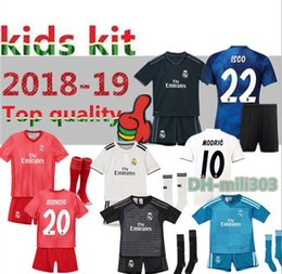 c06ecf0c8 2018 2019 Real Madrid Kids soccer jersey kit 18 19 RONALDO BENZEMA ISCO  BALE ASENSIO MODRIC youth jerseys home child Football shirt uniforms