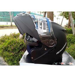 Full Carbon Fiber Motorcycle Helmet Australia - Dot Approved Motorcycle Helmet Double Lens Moto Helmet Flip Up Open Full Face Motorbike Helmet Motorcycle Racing Off Road Helm