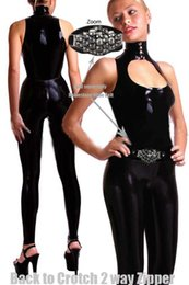 1768cd1e015 Adult Women Sexy Leather Mesh Teddy Catsuit Club Wear Zentai Fetish Clubwear  Women Costume Party dress CA-0016