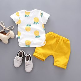 Wholesale Boy s summer baby suit short sleeve shorts fashionable handsome boy short sleeve baby s two piece suit