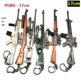 $enCountryForm.capitalKeyWord Australia - PUBG Keychain Man Playerunknown's Battlegrounds 3D Keyring saucepan Pendant funny kids Toy gun SUPPLY keyring for Man and kids