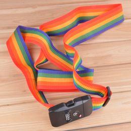 $enCountryForm.capitalKeyWord Australia - Travel Cross Straps Strong Nylon Belt Suitcase Luggage TSA Three Layer Password Lock Strap 669
