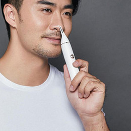 2021 xiaomi youpin SOOCAS Nose Hair Trimmer Eyebrow Clipper Sharp Blade Cordless Nasal Cleaner Rotary blade system for effective trimming on Sale