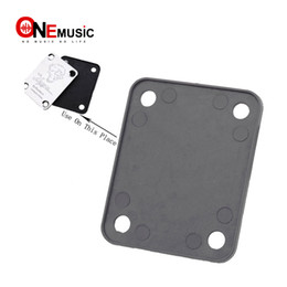 guitar neck plates NZ - 10Pcs Black Electric Bass guitar Neck plastic backplane back plate,Neck Joint connecting strengthen backplane for Bass Guitar