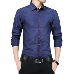 Sleeves Shirts For Men Australia - Plus Size 5xl 2019 New Fashion Mens Casual Shirts Long Sleeve Shirt Cotton Turn Down Collar Blouse Men Clothing For Men