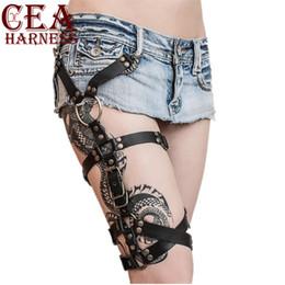 Women's Belts Cea.harness Sexy Harajuku Pu Leather Punk Goth Garter Belt Bdsm Adjustable Straps Body Bondage Leg Suspenders Waist Belt The Latest Fashion
