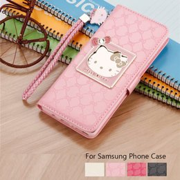 f1222dda4 For Samsung Galaxy Note8 Note9 Case Luxury Women Wallet Hello kitty  Magnetic Flip PU Leather Cover for S8 S9 Plus Mirror Case