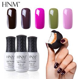 yellow turquoise stone 2021 - HNM 8ml Top Base Primer Nail Polish Gorgeous Color Nail Varnish Nagellak Semi Permanent Nail Polish Lucky Lacquer Soak O