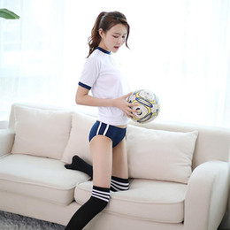 Wholesale japanese school costume resale online - Japanese School Uniform Cosplay Costume Gym Sportwear T shorts Bloomers Cosplay Costumes JK Uniform Gym Suit SH190908