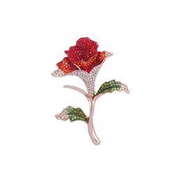 Bridal Brooch Flower UK - New arrival Flower Brooches for Women Pins Rhinestone Brooch Mujer Vestidos Brosche Plant Brooch DIY Bouquet Bridal Wedding 10pcs lot