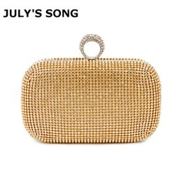 Diamond Studded Evening Clutch Bag Australia - Evening Clutch Bags Diamond-studded Evening Bag With Chain Shoulder Bag Women's Handbags Wallets Evening Bag For Wedding Party Q190430