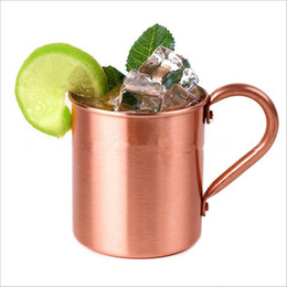 solid copper moscow mule mugs Australia - 100% Pure Copper Moscow Mule Mug 14 and 16OZ Solid Smooth without Inside Liner for Cocktail Coffee Beer Milk Water