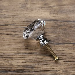 $enCountryForm.capitalKeyWord Australia - 40mm Diamond Shape Design Crystal Glass Knobs Cupboard Drawer Pull Kitchen Cabinet Door Wardrobe Handles Hardware GT62