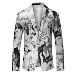 $enCountryForm.capitalKeyWord NZ - Fashion Personality Printing Korean Man Single Row Buckle Suit Loose Coat