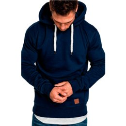 Light Grey Color UK - 2019 new men's solid color outdoor fitness sweater casual fashion hood Black, dark grey, army green, light grey, khaki, wine red, navy blue