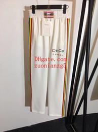 $enCountryForm.capitalKeyWord NZ - 2019 Brand women clothes leggings pants women pants New rainbow webbing stitching letters beaded elastic high waist pants women trousers
