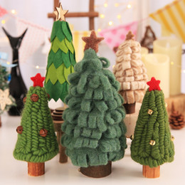 christmas ornament displays Canada - Christmas decorations creative carpet bells Christmas tree window display mall children's small gifts
