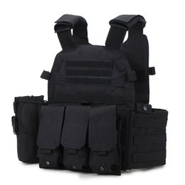 Discount black molle tactical vest - WarGame Item Js-6094 Plate Carrier Modular Vest for Outdoor Molle Protector Paintball Tactical Hunting Vest