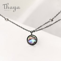 Necklaces Pendants Australia - Thaya Star Planet Space Milky Way 100% S925 Silver Pendant Necklace Galaxy Crystal Black Chain For Women Jewelry Christmas Gift J190611