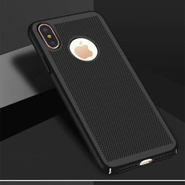 Iphone Puls Australia - Breathable Cooling Phone Case for iphone 6 Mobile Shell 7 8 puls X All-inclusive Scrub Hard Shell Free Shipping