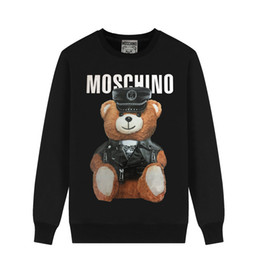 $enCountryForm.capitalKeyWord Australia - MOSCHIN O cartoon love bear teddy bear loose European and American men and women couple round neck tide sweater