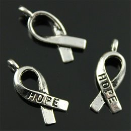 $enCountryForm.capitalKeyWord NZ - Cheap 30pcs Awareness Charm Awareness Ribbon Tibetan Silver Charms Jewelry Making Accessories Hope Ribbon Charms 19mm